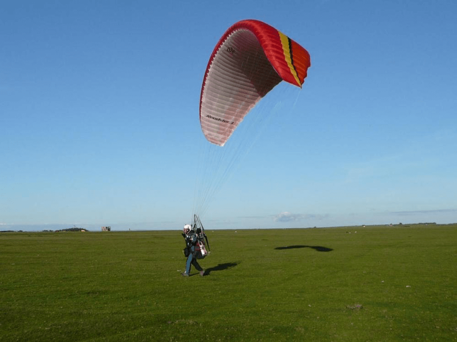 Paramotoring Taking Off